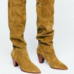 NEW Free People Suede OTK Presley Boots - Camel